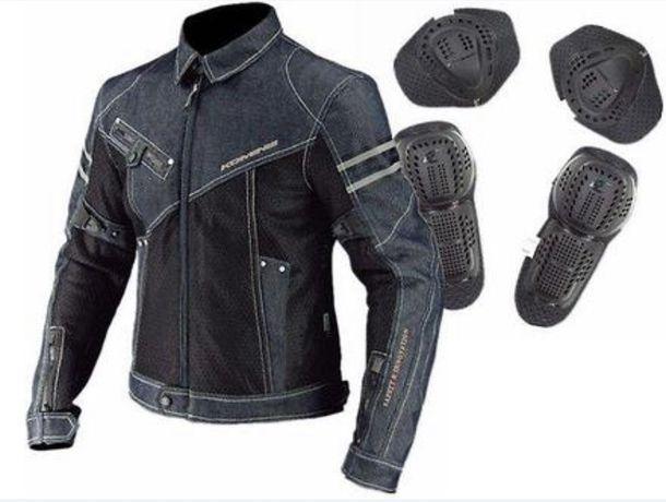 Защитная джинсовая мото куртка Komine JK006