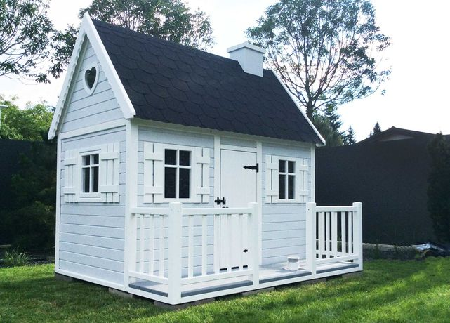Domek ogrodowy dla dzieci Bajka, drewniany plac zabaw od Dżepetto!