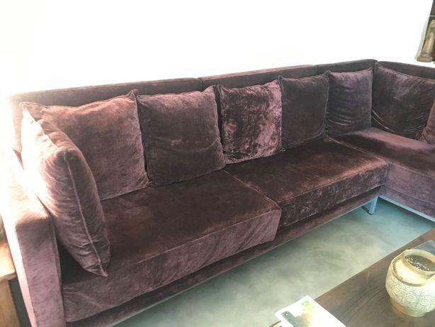Sofá com chaise-longe
