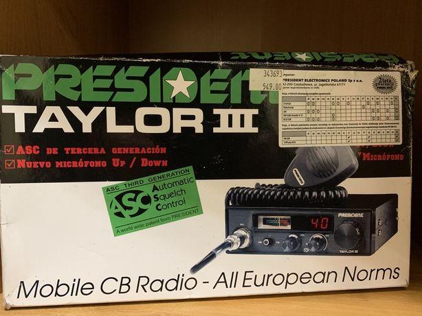 Cb radio President Taylor III + antena President