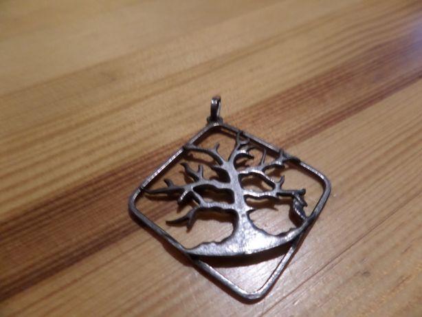 wisior drzewo srebro