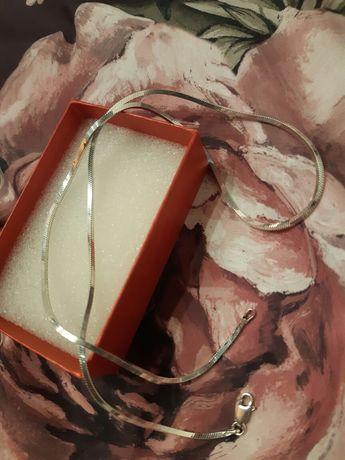 Srebrny gruby łańcuszek 50 cm próba 925