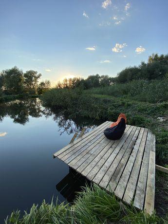 Продам дом с озером Безруки, 15км. До Харькова