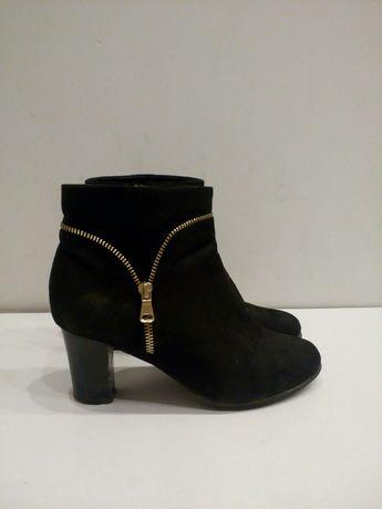 Buty zimowe kozaczki czarne na zamek