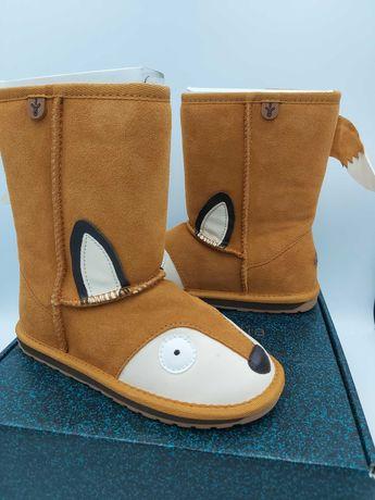 NOWE śniegowce botki EMU AUSTRALIA foxy liski  FOX 31 13US K/E