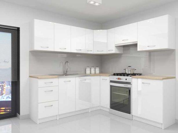 Meble kuchenne ALDENTE narożne 2,2x 2,1  w połysku bezpłatny transport