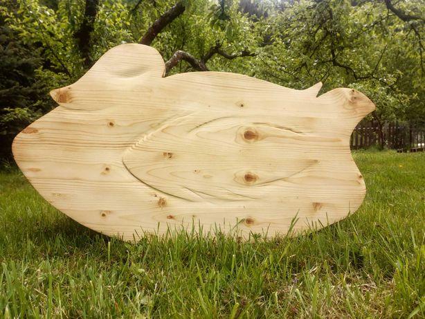 Bujak drewniany huśtawka