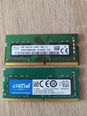 Pamiec RAM do laptopa ddr 4 16gb 2400Mhz