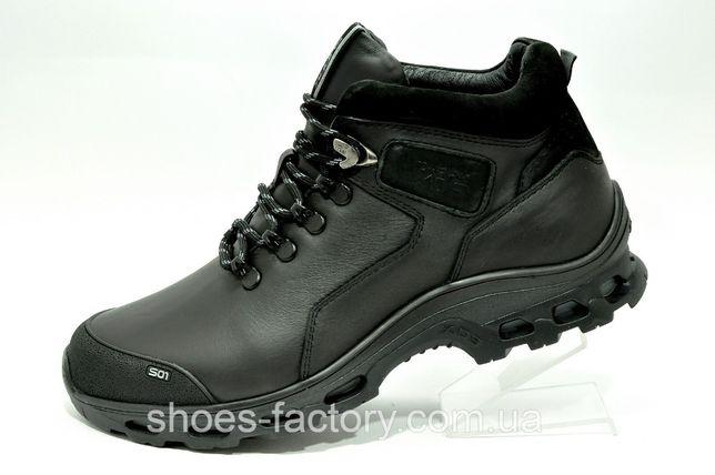 Зимние мужские ботинки Shark Primaloft кожа Чёрные, купить