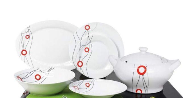 Elegante serviço de jantar porcelana          40 peças NOVO