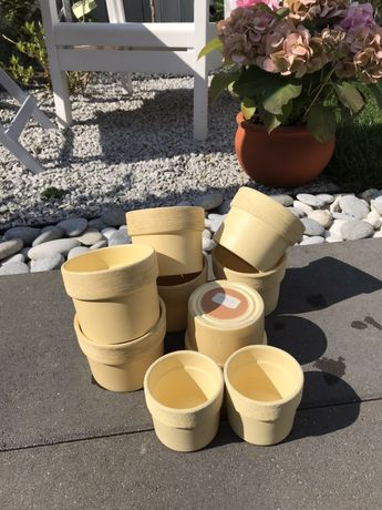 Donice ceramiczne/ osłonki kpl 9 szt