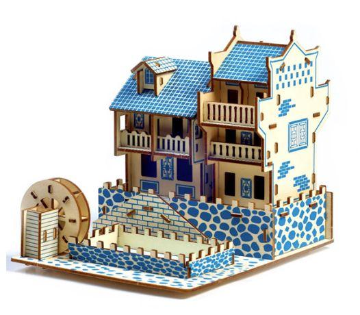 Деревянные 3D пазлы . Трехмерный конструктор-головоломка 18.2см