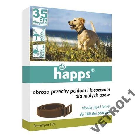 Happs obroża pchły i kleszcze dla małych psów 35cm