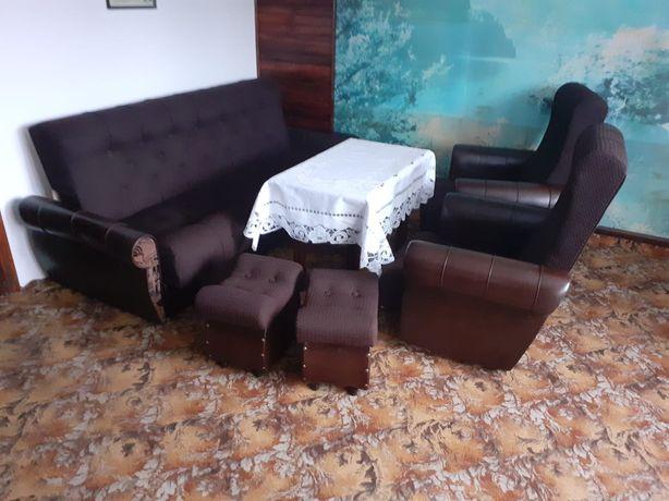 Oddam wersalkę +2 fotele+ 2 pufy