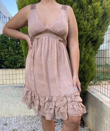 Vestido rosa velho festa