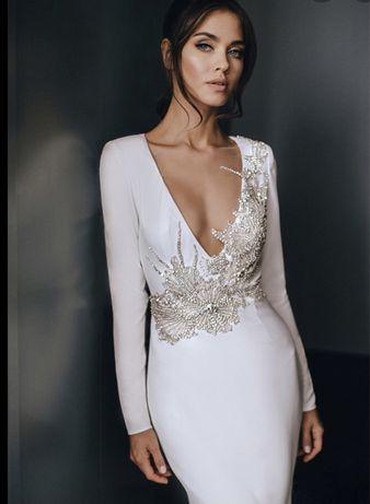 Suknia ślubna Laurelle Melissa z kryształami Swarovsky r. 36