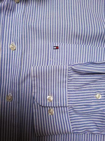 Koszula męska Tommy hilfiger r. L, XL. Oryginalna, bawełna, błękitna,