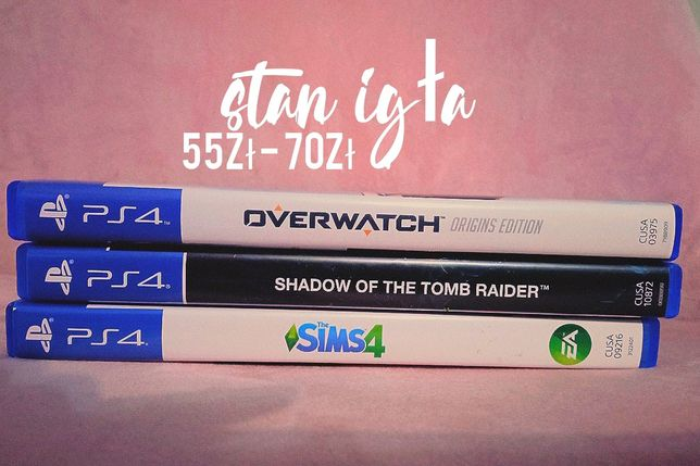gry ps4 jak NOWE sims 4 overwatch shadow of the tomb raider ps4