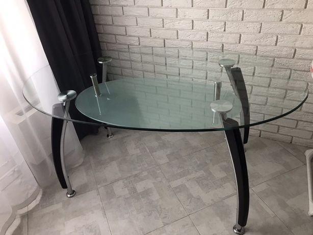 Стол кухонный, стеклянный