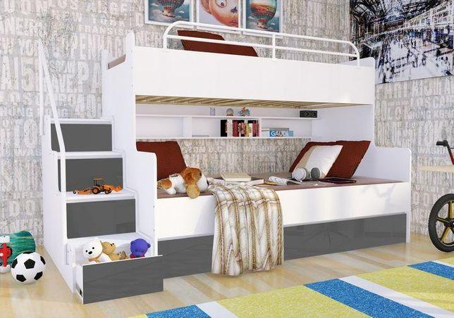 Łóżko piętrowe MAGNUM BETA LUX 2/3 osobowe- połysk - dostawa 0 zł