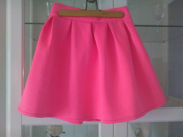 spódniczka,spódnica pianka,różowa,neonowa