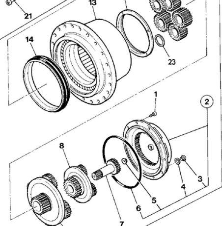 бортовой редуктор JCB 220