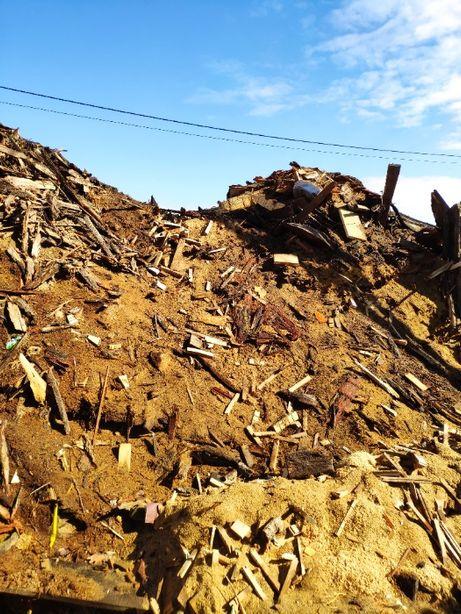 Oddam za darmo trociny, wióry, biomasa, trocina, zrębka drzewna