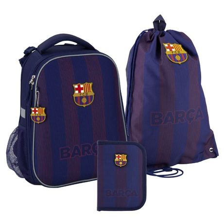 SET_ Школьный набор 3в1 Kite FC Barcelona Рюкзак Пенал Сумка BC20-531M