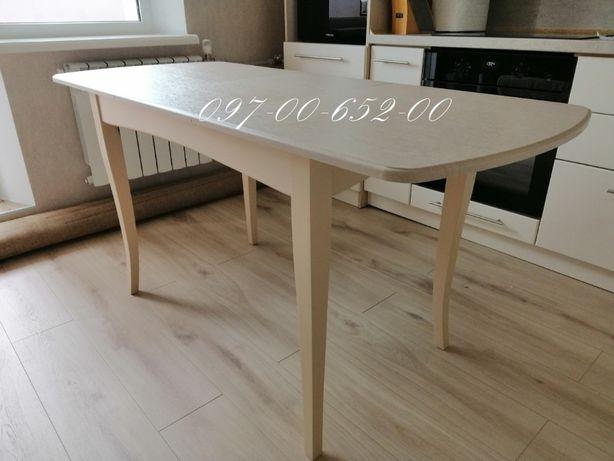 Кухонный Стол Новый со склада! 120*70 Раскладной Бук+МДФ