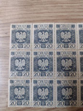 Stare znaczki skarbowe 20 zł