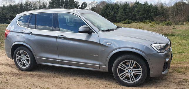 BMW X3 xDrive20d MPAKIET przebieg 86.000 bogata wersja, produkcji 2016