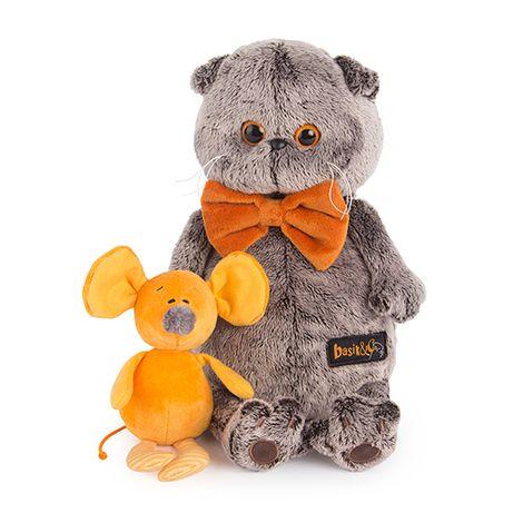 Мягкая игрушка Кот Басик с мышкой Миленой 30 см