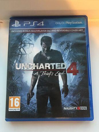 Uncharted 4 PS4 WROCLAW idealna jak nowa u4 unczarted uncharted4