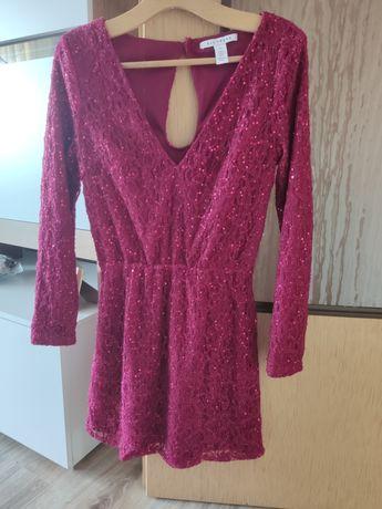 Sukienka wiśniowa