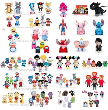 Peluches Minnie , Mickey , Sonic , Lillo&Stitch, Dumbo , Dragon ball ,