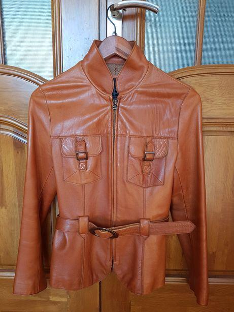 Женская кожаная курточка куртка шкіряна