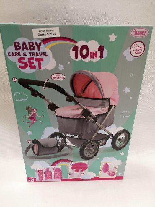 Nowy duży wózek dla lalek,regulowana rączka,torba+akcesoria dla lalek Końskie - image 1