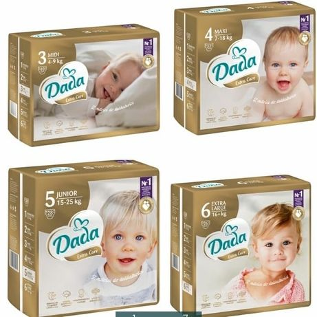 Подгузники Дада premium extra care 1, 2, 3, 4, 5, 6