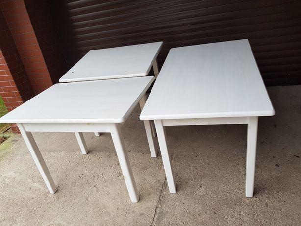Stół biały sosnowy drewniany