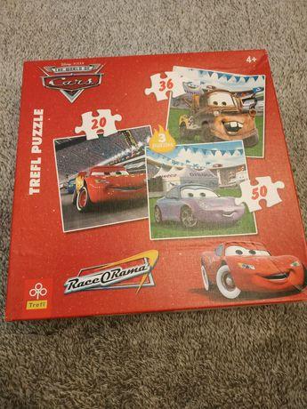Puzzle Cars Puzle 3 w jednym Trefl 106 elementów razem
