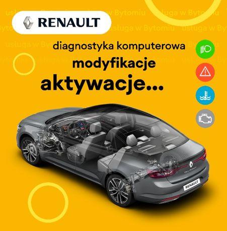 Diagnostyka komputerowa aktywacja funkcji kasowanie błędów Renault