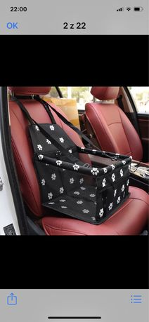 Transportet  fotelik dla psa do auta