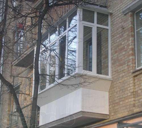 Балконы под ключ, вынос, остекление, утепление, обшивка