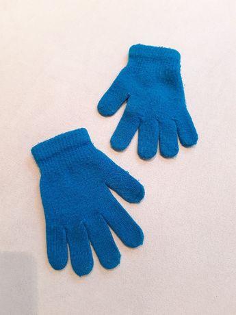 niebieskie rękawiczki dziecięce (dla chłopca lub dla dziewczynki)