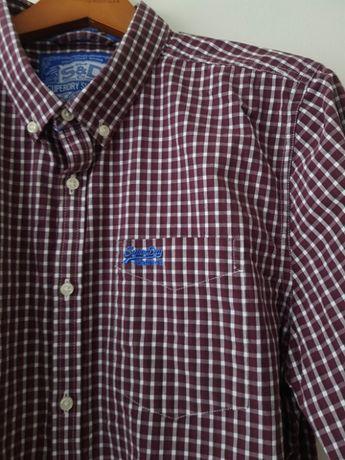 Superdry Oxford koszula w kratkę modna męska oryginalna nowa S/M