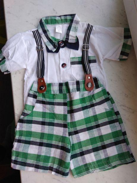 Літній комплект на хлопчика, сорочка, шорти. На 1 рік.