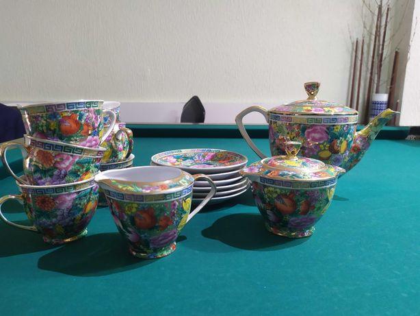 Serviço de chá com 7 chávenas