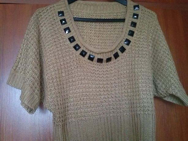 bluzka damska sweterek model typu nietoperz