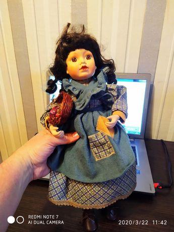 Кукла фарфоровая , красивая большая 30 см