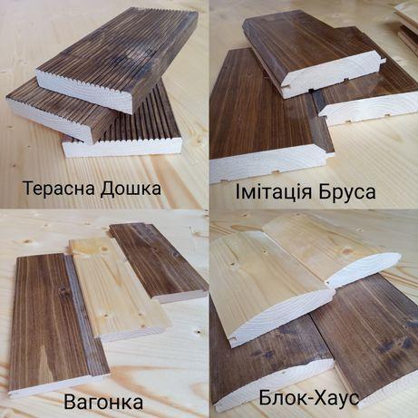 Деревяна продукція від виробника: Вагонка, Блок-Хаус, Імітація-Бруса,